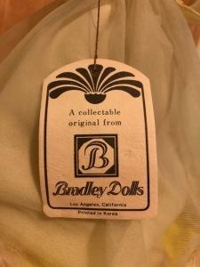Bradley Dolls Tag for yellow doll
